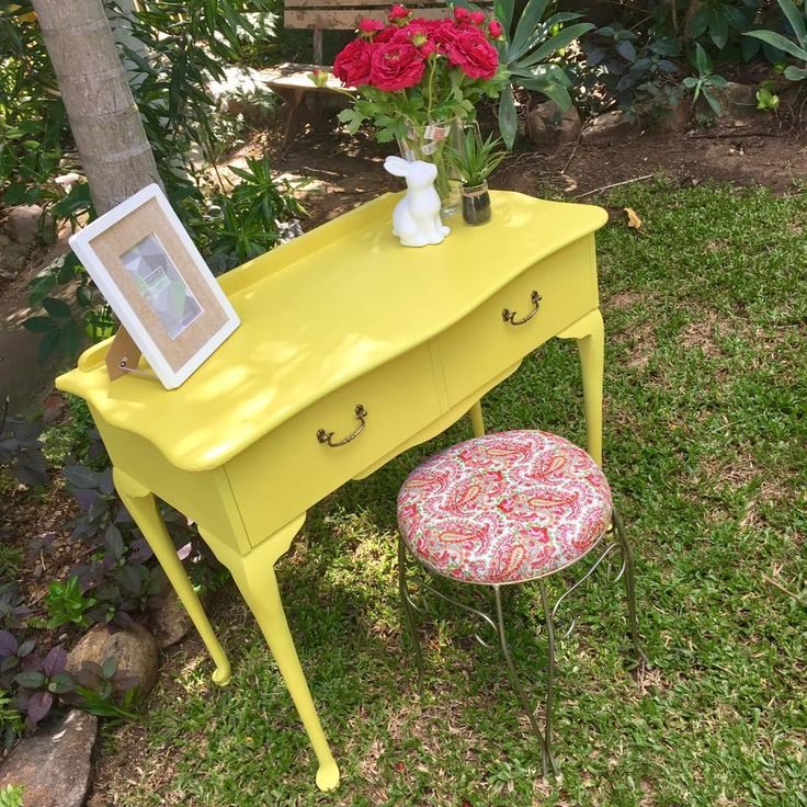 Lovingly restored in English Yellow Chalk Paint™ and Clear Wax by Annie Sloan. Work performed by My Sister's House Rockhampton.