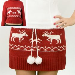 Great skirt. DIY Do it yourself sweater skirt!  An awesome idea for an ugly sweater party!