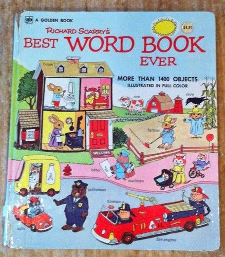 Vintage Richard Scarry's Best Word Book Ever 1963 1st Edition: The 50th anniversary reissue is due soon, however the original is arguably better. #Books #Kids #Richard_Scarry