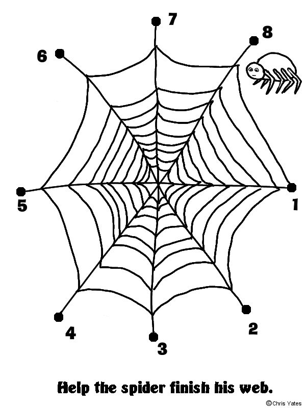 preschool halloween spider coloring pages - photo#21