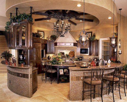 Beautiful Kitchens, Kitchens Design, Dreams Kitchens, Awesome Kitchens, Kitchens Ideas, Dreams House, Circular Kitchens, Round Kitchens, Dream Kitchens
