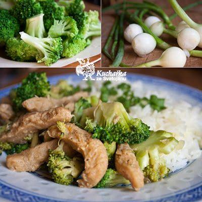sójové maso s brokolicí