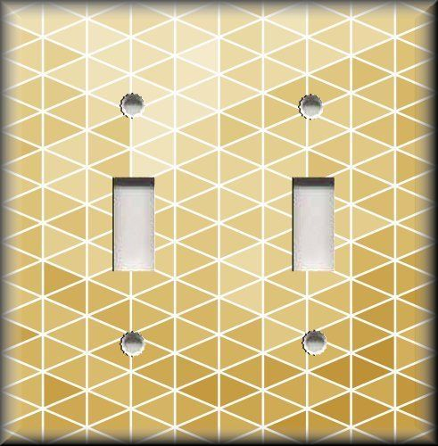 Light Switch Plate Cover - Ombre Triangles Golden - Home Decor Modern…