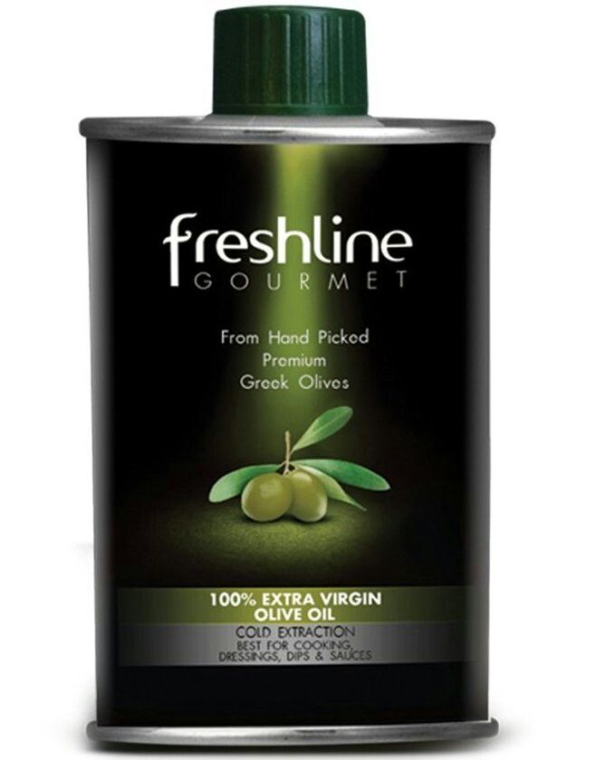 Freshline Gourmet Extra Virgin Olive Oil in Round Tinplate Cans
