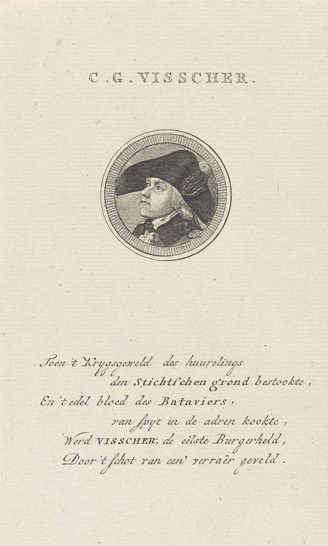 Portret van Cornelis Govert Visscher, Abraham Jacobsz. Hulk, Jacobus Wijsman, 1787