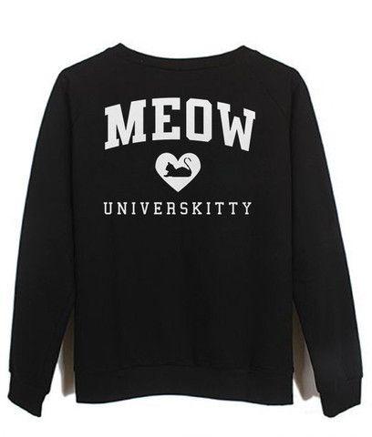 meow universkitty #sweatshirt #shirt #sweater #womenclothing #menclothing #unisexclothing #clothing #tops