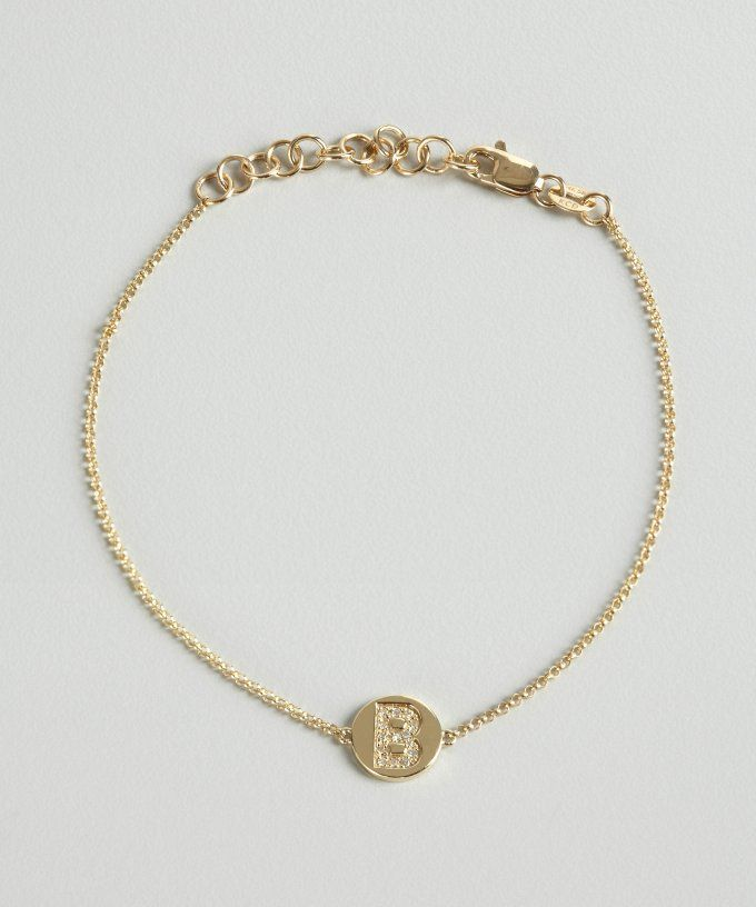 76 best diamonds and gold bracelets images on pinterest bangles gold and diamond b initial pendant bracelet diamond jewelrywatches bracelets mozeypictures Images