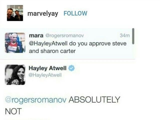 Reasons why we love Haley Atwell - Steggy - Steve - Peggy ...