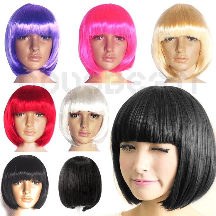 Ladies Womens Sexy Short Bob Cut Fancy Dress Wigs Full Wig Cosplay Costume Party #Unbranded