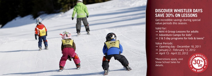 Whistler kids camp (so mom and dad can ski)