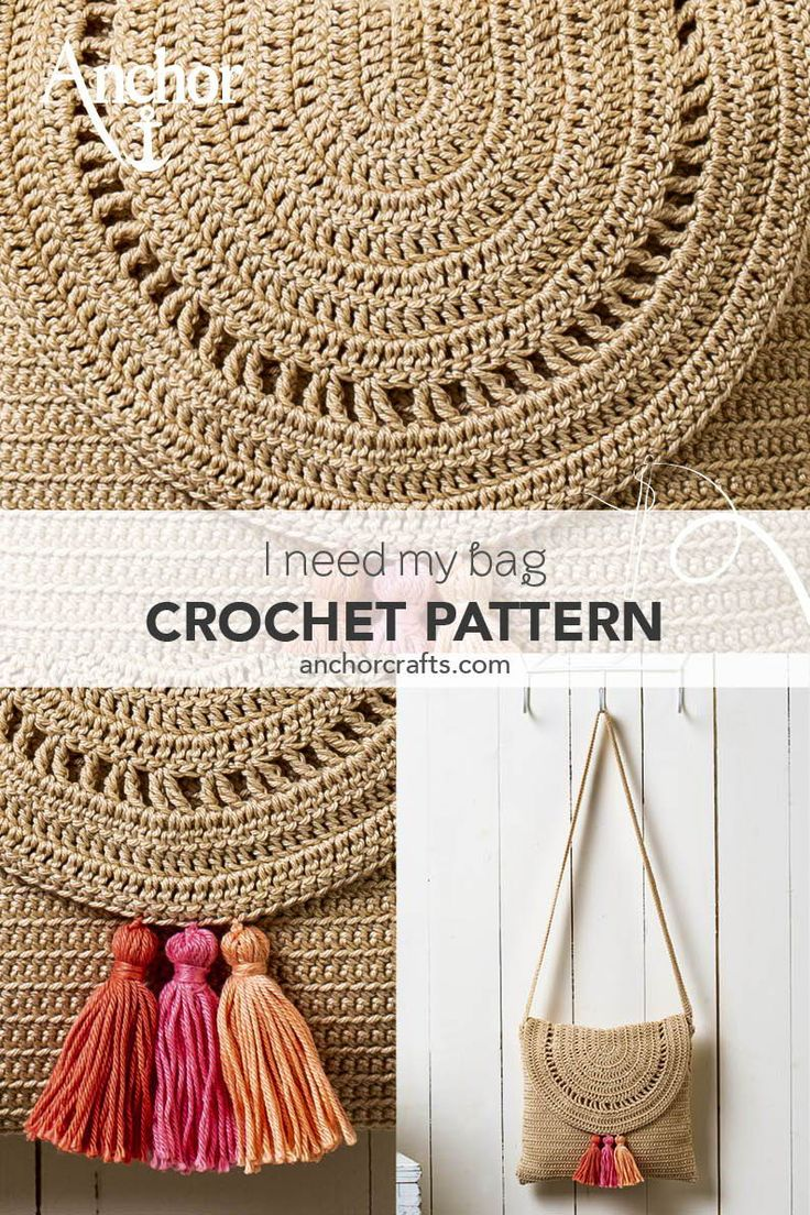 This stylish crochet shoulder bag with colourful tassels will look great in any …