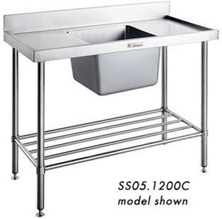 commercial sink bench simply stainless ss050600 single sink bench wwwhoskit. Interior Design Ideas. Home Design Ideas