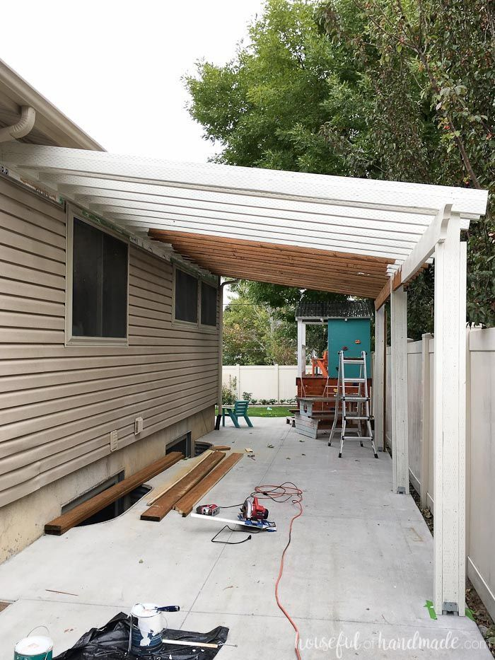 Build a Patio Pergola attached to the House | Building a ...