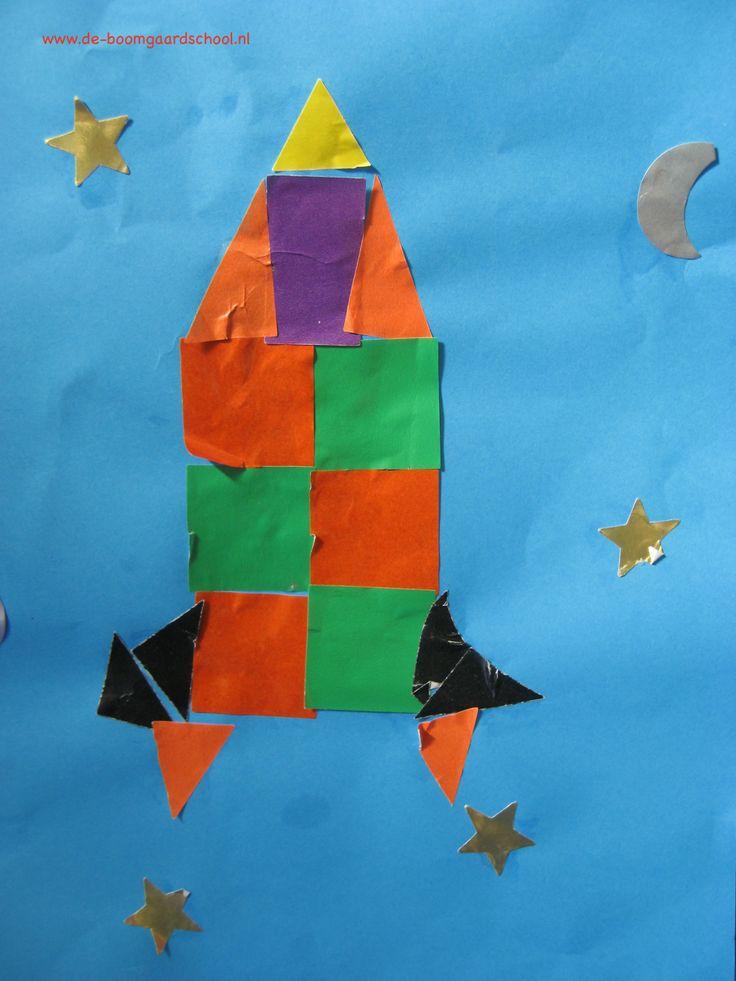 Thema: ruimte. Dit werkje is gemaakt door een leerlingen uit groep 1/2 van P.C. Basisschool De Boomgaard.