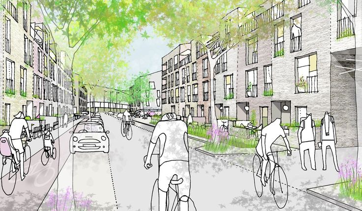 """Auf dem olympischen Gelände in London werden innerhalb der nächsten zwanzig Jahre rund 6800 Wohnungen entstehen. Die Umnutzung beginnt bei """"Chobham Manor"""", das sich zwischen Velo…"""