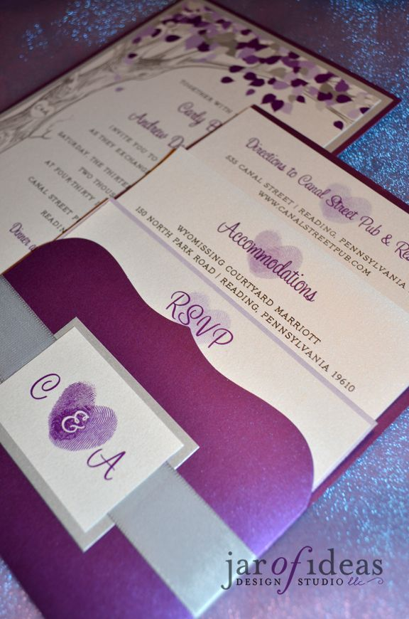 funny wedding invitation rsvp goes viral%0A Good idea to include info  Purple  u     Silver pocket invite