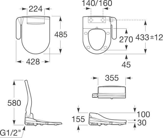 Descubre los nuevos asientos Multiclean® con función lavado y secado. Compatibles con la mayoría de inodoros Roca. La solución más rápida y sencilla para una limpieza total.