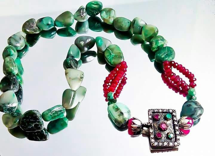 Orlov Jewellery-Smaralde brute,rubin,argint
