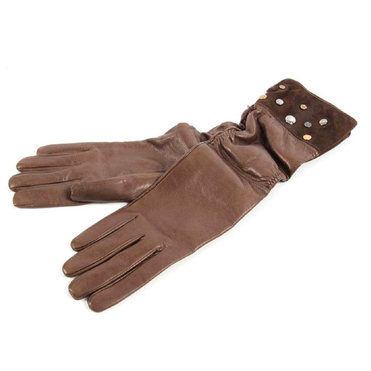 Brown 7 Tods womens gloves WG02602002QTB213