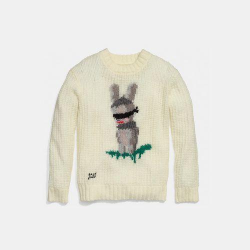 Coach USA Store & COACH x baseman emmanuel hare ray sweater CREAM