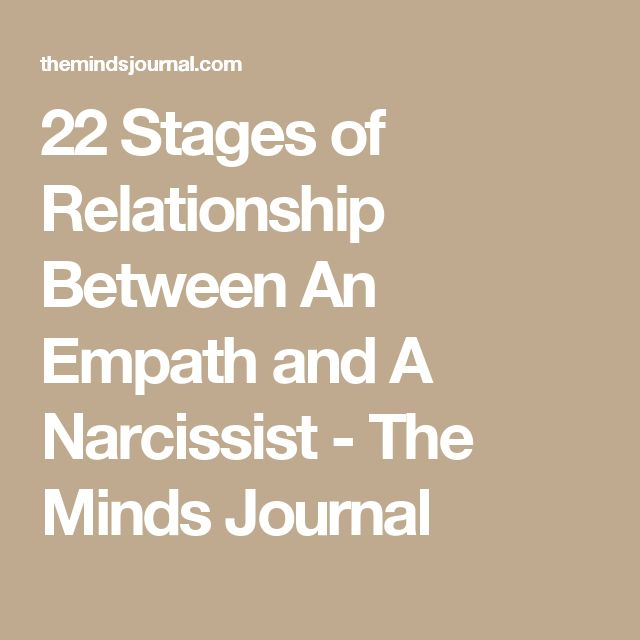 Three stages of dating a narcissist