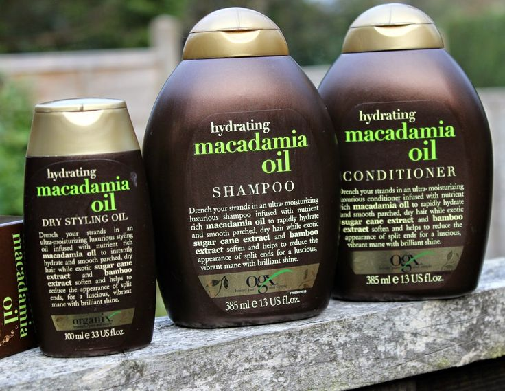 OGX Hydrating Macadamia Oil Shampoo, Conditioner and Dry Styling Oil
