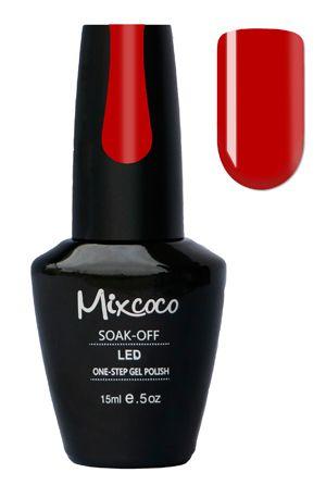 Mixcoco One-Step Gellak # 09  - Miss Attitude - verkrijgbaar viawww.beautymilleni...- prachtige donker rode gelpolish kleur! Mixcoco One Step Gellak vereist geen base of top coat! Een prachtige#gelmanicurebinnen 5 minuten! Zeer geschikt voor beginners! 2 weken prachtig gelakte#nagels! Prijs: €16,95 |#nails#Mixcoco#gellak#gelnails#gelnagels#gelpolish#gellac#gellish#gelish#soakoff