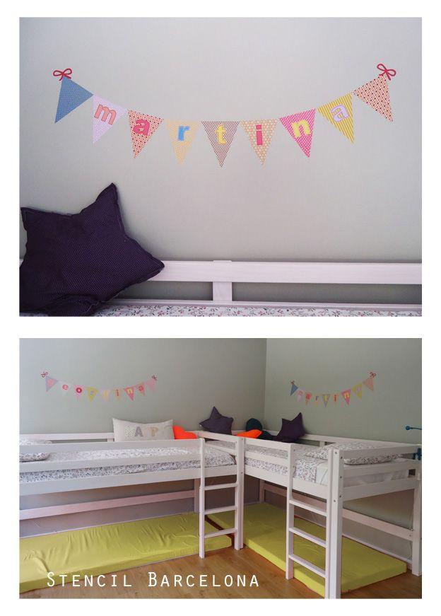 Aquí os dejamos una idea para personalizar territorios, en habitaciones compartidas!!!  http://stencilbarcelona.com/index.php/banderolas.html