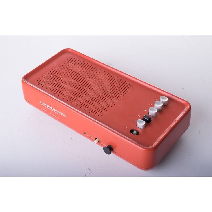 Filodiffusione modello FD1101 designer Marco Zanuso produttore Brionvega  paese Italia 1969 colore arancio in plastica