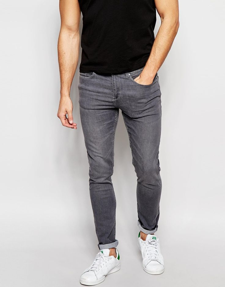 Image 1 of New Look Super Skinny Fit Jeans in Grey