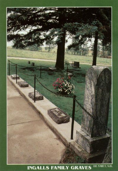 Ingalls family graves: Charles, Caroline, Mary, Carrie and Grace, DeSmet Cemetery, DeSmet, SD.