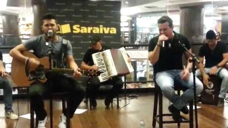 Pocket Show e Noite de Autógrafos com Marcos & Belutti na Livraria Saraiva... ♫ Dupla Solidão ♫