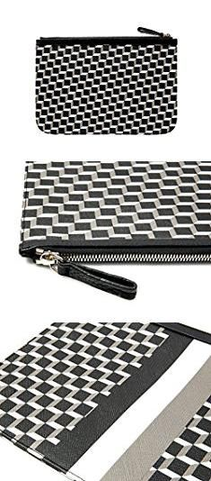Pierre Hardy Bag. Wiberlux Pierre Hardy Women's Cube Patterned Real Leather Clutch Bag L Black_Gray.  #pierre #hardy #bag #pierrehardy #hardybag