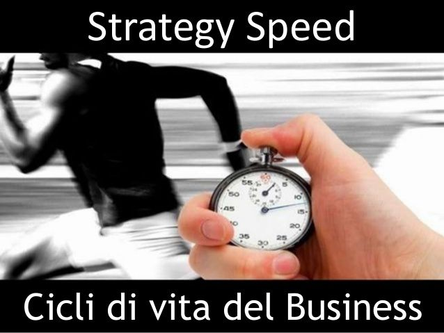 Le strategie non funzionano se non sono veloci Indispensabili nuovi approcci e tempi più brevi Strategy Speed – Cicli di vita del Business by Manager.it  http://www.manager.it/default.asp?page=A_stratspeed.html