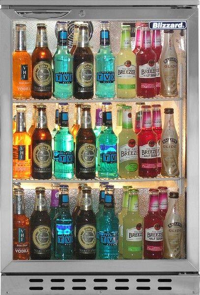 Blizzard BAR1SS 125 Ltr Back Bar Bottle Cooler: Category: Back Bar Bottle Coolers (Single Door), Brand: Blizzard