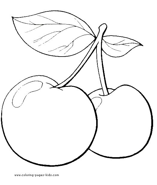 Fruit Color Page Nature Food Coloring Pages For Kids Thousands Of Free Printable