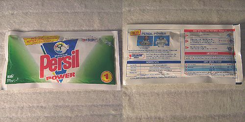 1990s vintage Persil Power Laundry Detergent Sample Pack