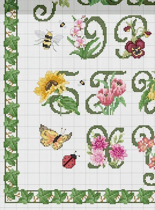 Schema punto croce Alfabeto-floreale-3