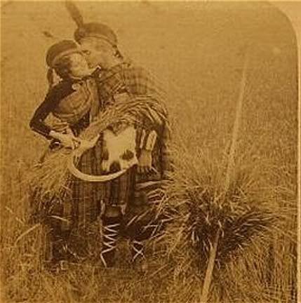 Vintage kilt and dress...amazing old photo