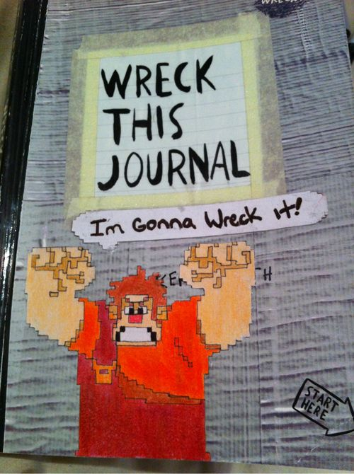 I totally going to do something similar to this for my Wreck This Journal.
