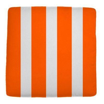 "Wayfair Custom Outdoor Cushions Knife Edge Outdoor Square Ottoman Cushion Fabric: Finnigan Mandarin, Width: 26"", Depth: 22"""