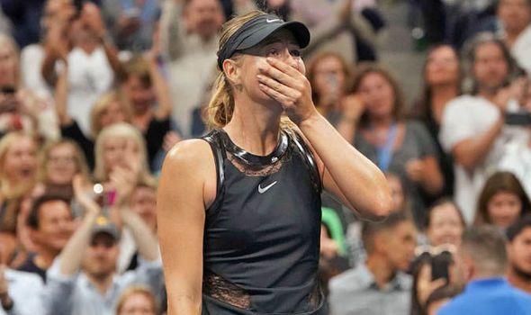 Maria Sharapova broke down in tears after winning match point