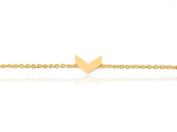 Chevron Gold Armband, Bettelarmband Chevron, kleine Chevron Armband, Großhandel…