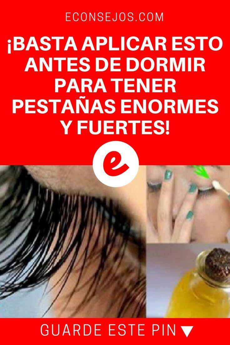 Pestañas remedios caseros   ¡BASTA APLICAR ESTO ANTES DE DORMIR PARA TENER PESTAÑAS ENORMES Y FUERTES!   ¡100% comprobado! <3