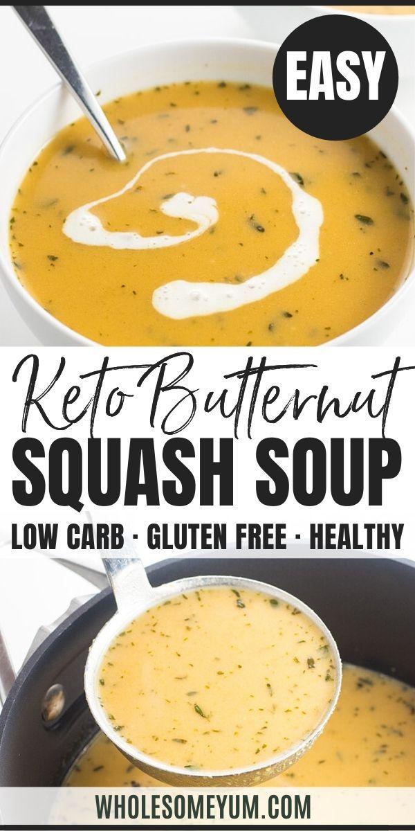 Creamy Low Carb Paleo Butternut Squash Soup Recipe With Coconut Milk Paleo Butternut Squash Soup Butternut Squash Recipes Soup Paleo Butternut Squash
