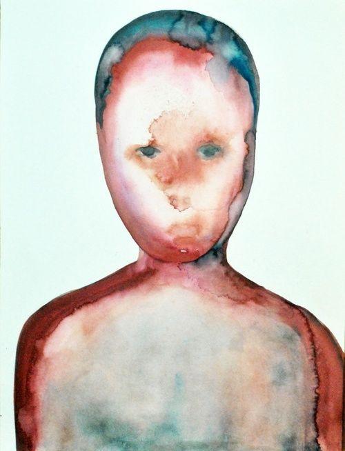 "Julius Redillas; Watercolor, 2012, Painting ""Blue Skinned"""