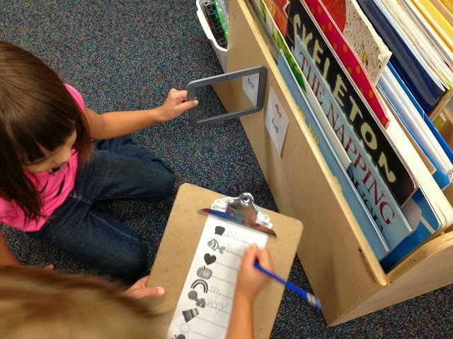 "My students LOVE this partner word-work activity!  Blog post from Creating Readers and Writers: ""Mirror, Mirror on the Wall""  #sightwords  #wordwork  #spelling"