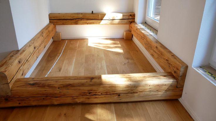 Balkenbett – Bett selber bauen