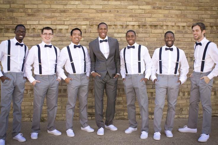 Wedding vans and suspenders
