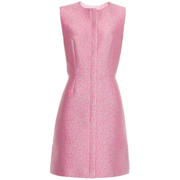 Balenciaga Tweed-jacquard sleeveless dress (2 586 390 LBP) ❤ liked on Polyvore featuring dresses, vestidos, pink, jacquard dress, pastel dresses, sleeveless dress, balenciaga and pink tweed dress